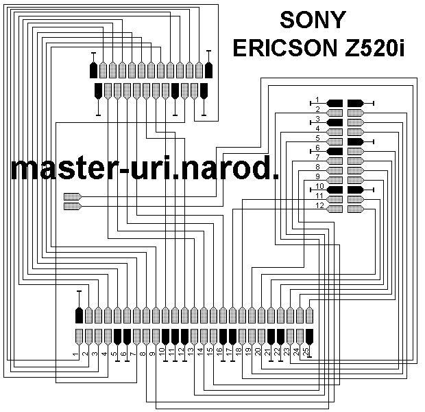 Схема шлейфа телефона SE Z520i